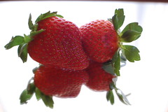 reflections of strawberries (rhonda gibson) Tags: red food oklahoma reflections mirror strawberries lessons stilwell rhondagibson