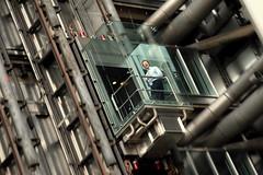 Slow Down! (HaHa UK) Tags: bridge building london glass architecture lift elevator save3 save7 save8 delete save save2 foster save9 save4 save5 save10 rogers save6 gherkin willis lloyds liverpoolstreet saved3 cityoflondon lloydsbuilding savedbydeletemeuncensored