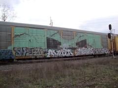 Wholecar (el stranger) Tags: art train bench graffiti minneapolis rail trains m graff mn railfan freight wholecar railart swerv wvoid