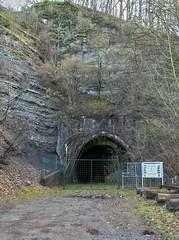 Goldfisch-Tunnel (matthiashn) Tags: abandoned germany geotagged decay eisenbahn railway tunnel ww2 hdr urbex odenwald goldfisch badenwuerttemberg lostplace brasse obrigheim sigmadp1 uverlagerung hdrphotostudio2