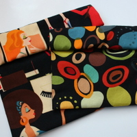 ~honor~  individuality  <br> set of 2 reusable snack bags NYLON lining