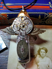 Temporal Wind Generator (lisby1) Tags: vintage costume wings cosplay handmade oneofakind ooak victorian jewelry fantasy scifi sciencefiction etsy custom recycle clockworks artisan larp steampunk neovictorian upcycle indiedesigner womanmade indieartist clockpunk tatterpunk bigcirclesteampunkemporium