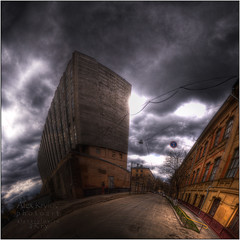"The Abandoned ""Manometer"" (a.Kry) Tags: city urban panorama building art abandoned nature water river square spring day russia moscow pano urbandecay 11 countries canondslr canoneos          photomatix  50d  hdrpanorama hdrpano   canoneos50d    yauzariver  lightroomart   akryphotoart  manometermanufacture"