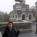 Vicki in front of Belvedere Castle