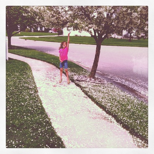 Snowing in the spring!