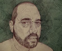 self portrait at 43 (giveawayboy) Tags: selfportrait pen self beard sketch drawing yo autoretrato eu io jeg ich ik barba  photodrawing lineform