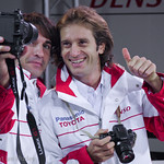 Timo Glock and Jarno Trulli. Toyota F1 factory, Cologne, Germany.