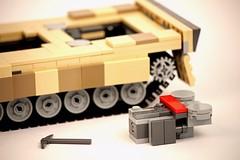 MTU 873 (Connor Querin) Tags: lego tank armour armor leopard 2a6 deutsch bundeswehr kmw tracked mbt mtu 873 powerpack