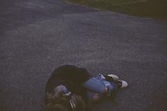(yyellowbird) Tags: selfportrait girl sleep ground headphones cari