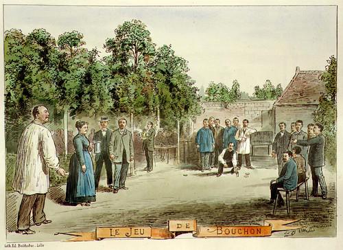 010- El juego del tapon-Lille ancien monumental Edouard Boldoduc  1893