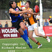 Werribee's Nathan Thompson juggles a mark
