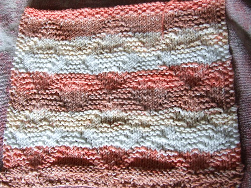 my latest knit washcloth