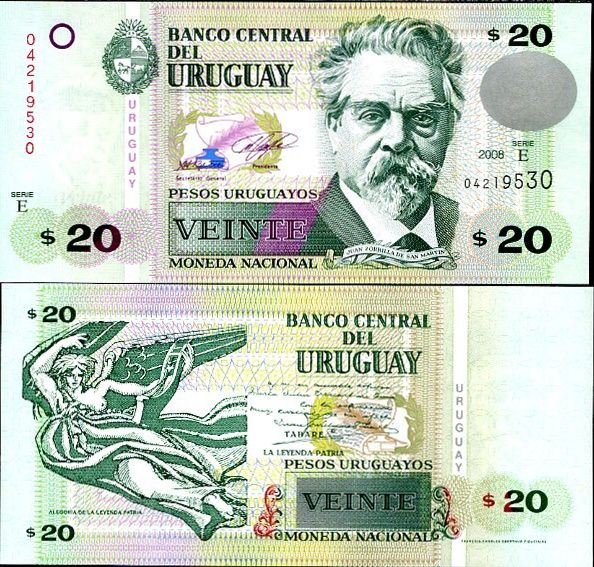20 Pesos Uruguayos Uruguay 2008