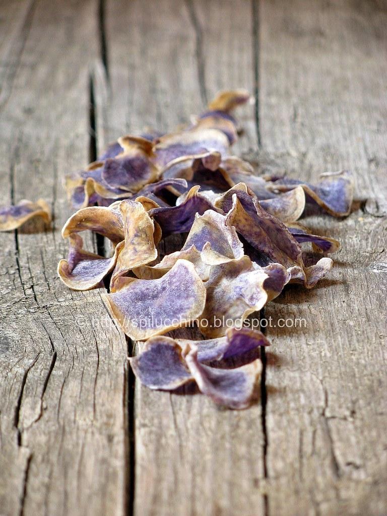 Chips di patate viola (e stavolta non sono foglie!)