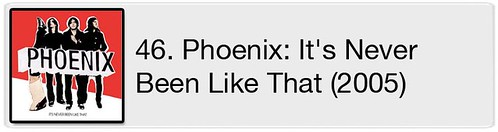 46. Phoenix - It's Never Been Like That (2005)