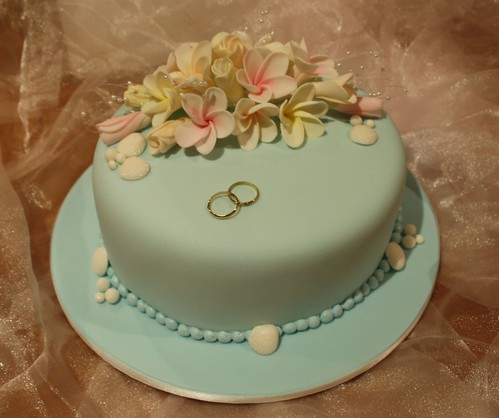 Egg free chocolate frangipani wedding cake