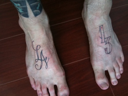 World record foot ink
