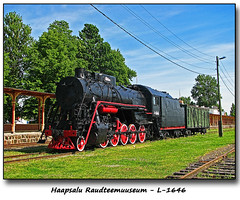 L-1646 (foje64) Tags: estonia locomotive steamengine railwaymuseum steamlocomotive haapsalu haapsalurailwaymuseum haapsaluraudteemuuseum raudteemuuseum l1646