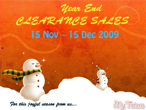 YEAR END CLEARANCE SALES