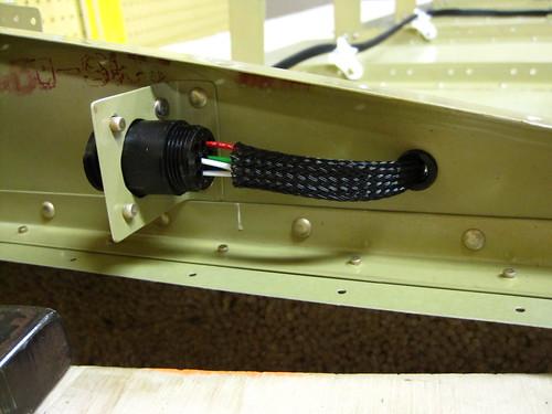 Rudder Trim Wiring Closeup
