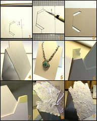 paper stand necklace pattern display handmade craft jewellery cardboard howto instruction tutorial pendant