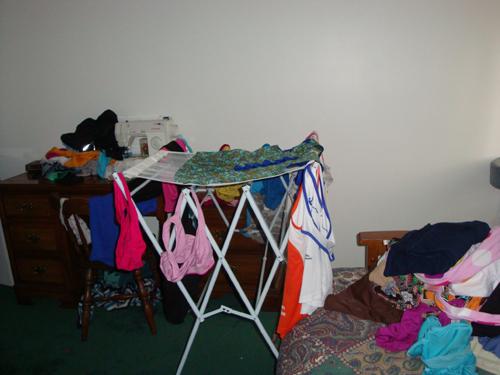 messy guestroom