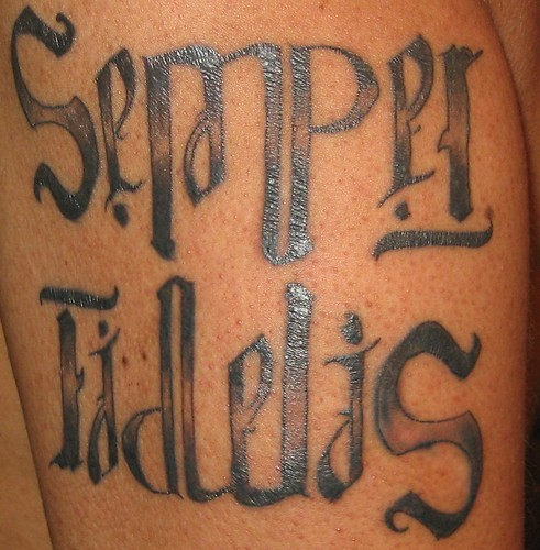 Semper Fidelis ambigram