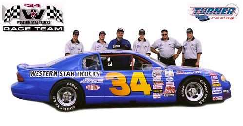 Darren Turner Racing team 2001 - Craig Banks, Ken Carlson, Darren Turner, Quinn Griesdale, Garth Turner, Roy Cobden