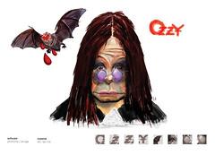 ozzy (eduardowestin) Tags: rock bat paranoid osbourne giz caricatura ozzy vocalista morcego cocaina