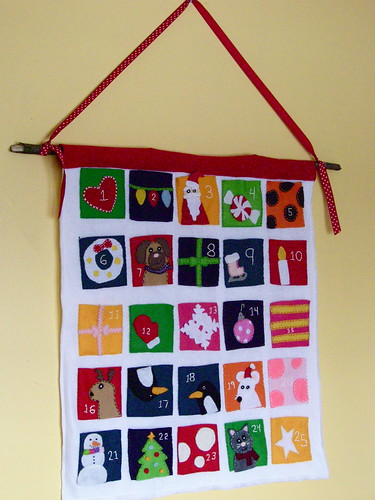 hand stitched felt advent calender