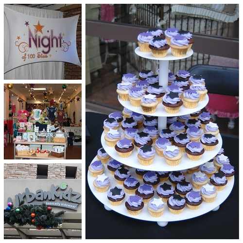 Simply Sweets mini cupcake tower for Urban Kidz' Night of 100 Stars Room For Joy Charity Event