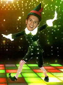 Iain Ramsay in his best Christmas party outfit
