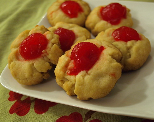 Grandma Angie's Christmas Cherry Butter Cookies