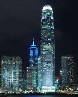 Hong Kong - Central's Skyscrapers at Night