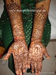 vidhya's Bridal front henna hands Dec 5th 2009 (Rajeswari Mehendi Designer Chennai) Tags: henna mehendi mehndi heena mehandi