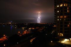 Lightning (moonsheep) Tags: longexposure night nikon australia queensland lightining d40x paradisewaters