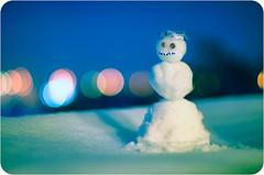 tiny snowman (strelar) Tags: winter snow cold 50mm snowman nikon bokeh 365 d90 project365 14g karmapotd snjegovic strelar