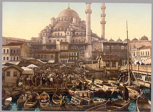 [Yeni Cami mosque and Eminönü bazaar, Constantinople, Turkey] (LOC)