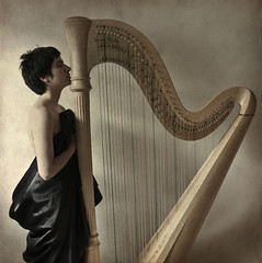 The Harp Sessions: Harp (eugkyr) Tags: portrait women harp sessions textured colorphotoaward artofimages bestportraitsaoi committeeofartists magicunicornverybest magiayfotografia thelittlebookoftreasures specialtouchinjanuary eugkyr