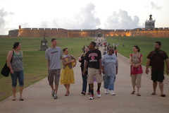 Walking from El Morro
