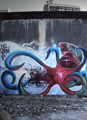 shark-cap-topus (BREakONE) Tags: water wall ink effects graffiti shark break graffity porto colored oporto tentacles 2010 breakone