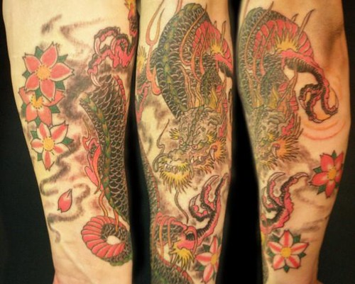 Dragon Tattoo Half Sleeve. Hapanese dragon half sleeve
