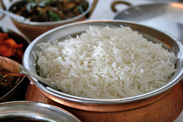 White fluffy basmati rice