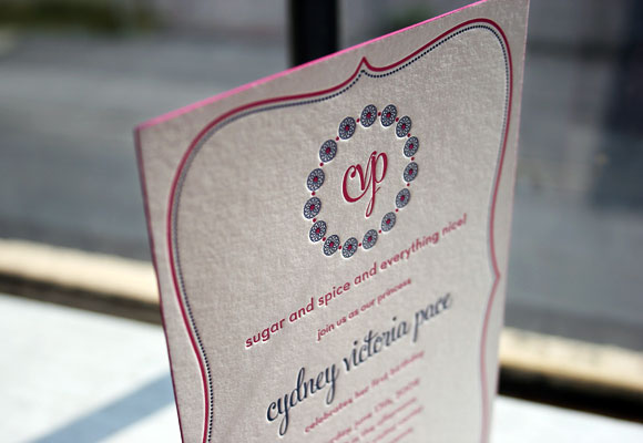 Custom Letterpress Birthday Party Invitation by Smock
