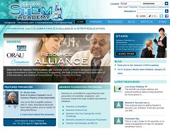 Screenshot of DE's STEM website