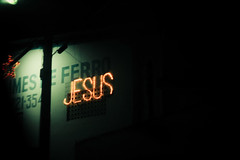 (yltsahg) Tags: light colors dark 50mm lights jesus 2009 christmasnight filmlike