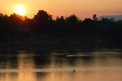 sunset over Se Kong river, Attapeu (aquanica) Tags: sunset laos motobike attapeu bolaven sekongriver