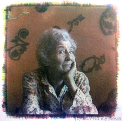 Elsie, Morristown (squaremeals) Tags: portrait orange gum grandmother alternative cyanotype gumbichromate altprocess gumprint