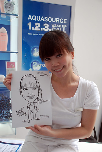 Caricature live sketching for Biotherm Roadshow Loreal - 6