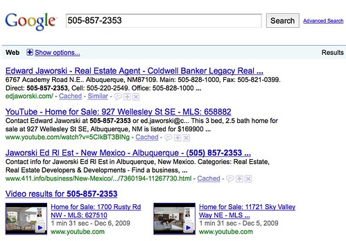 Agent Phone Number Search Result
